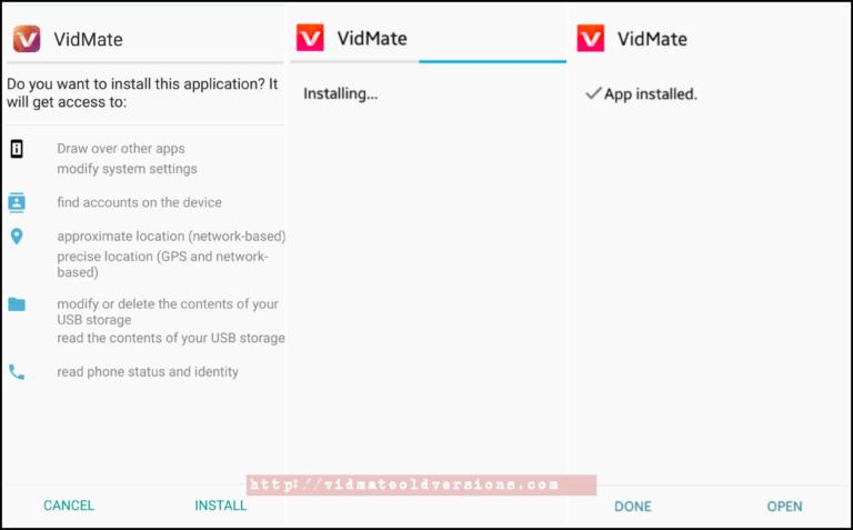 Install Vidmate Old Version